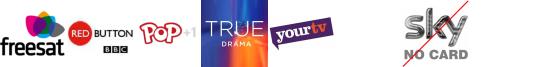 BBC RB 1, BIKE, POP 1, True Ent  1, YourTV