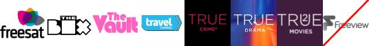 The Box, The Vault, Travel Channel +1, True Crime +1, True Drama, True Movies 2