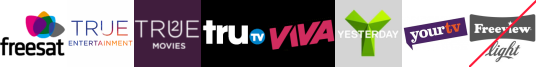 True Entertainment , True Movies 2, truTV, VIVA, Yesterday, YourTV