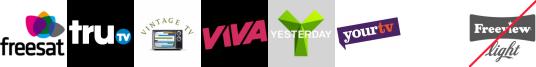 truTV, Vintage TV, VIVA, Yesterday, YourTV