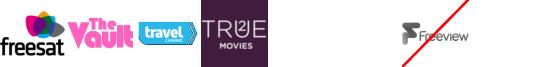 The Vault, Travel Channel +1, True Entertainment +1, True Movies  1