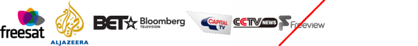 Al Jazeera English, B4U Music, BET, BIKE, Bloomberg TV, Capital TV, CCTV News