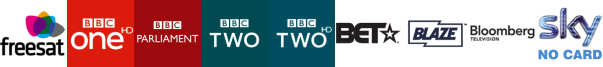 BBC One HD, BBC Parliament, BBC Two, BBC Two HD, BET International, Blaze, Bloomberg TV