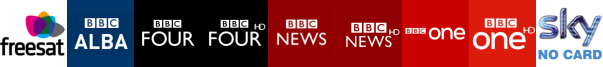 BBC Alba, BBC Four, BBC Four HD, BBC News, BBC News HD, BBC One, BBC One HD