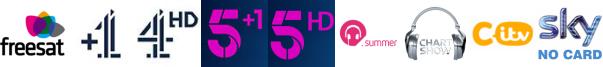 Channel 4 +1, Channel 4 HD, Channel 5 +1, Channel 5 HD, Chart Show Hits, Chart Show TV, CITV