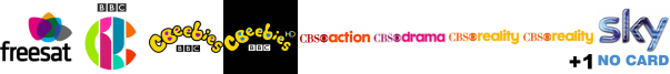CBBC HD, CBeebies, CBeebies HD, CBS Action, CBS Drama, CBS Reality, CBS Reality +1