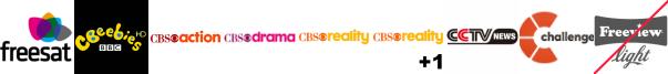 CBeebies HD, CBS Action, CBS Drama, CBS Reality, CBS Reality +1, CGTN, Challenge