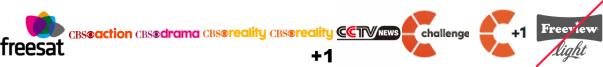 CBS Action, CBS Drama, CBS Reality, CBS Reality +1, CCTV News, Challenge, Challenge +1