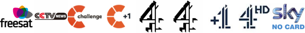 CCTV News, Challenge, Challenge +1, Channel 4, Channel 4 (Wales), Channel 4 +1, Channel 4 HD