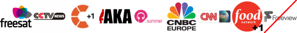 CGTN, Challenge +1, Channel Aka, Chart Show Summer, CNBC, CNN, Food Network +1