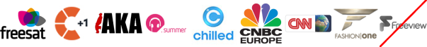 Challenge +1, Channel Aka, Chart Show Dance, CHILLED, CNBC, CNN International, Fashion One