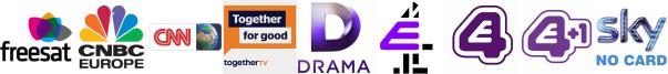 CNBC, CNN, Community Channel, Drama, E4, E4 (Wales), E4 +1