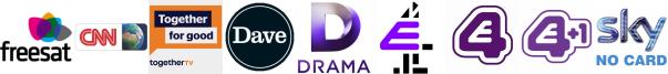CNN, Community Channel, Dave, Drama, E4, E4 (Wales), E4 +1