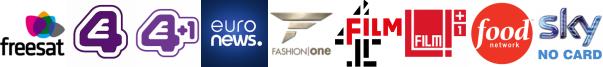 E4 (Wales), E4 +1, EuroNews, Fashion One, Film4, Film4 +1, Food Network