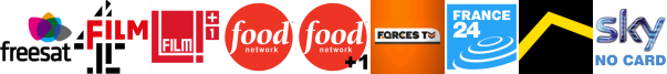 Film4, Film4 +1, Food Network, Food Network +1, Forces TV, France 24, Freesports