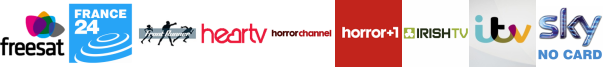 France 24 English, Frontrunner, Heart TV, Horror Channel, Horror Channel +1, Irish TV, ITV