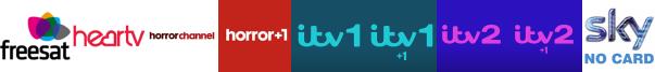 Heart TV, Horror Channel, Horror Channel +1, ITV, ITV +1, ITV 2, ITV 2 +1