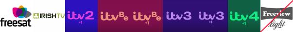 Irish TV, ITV 2 +1, ITV Be, ITV Be +1, ITV3, ITV3 +1, ITV4 +1