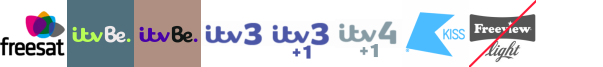 ITV Be, ITV Be +1, ITV3, ITV3 +1, ITV4 +1, Keep It Country, Kiss