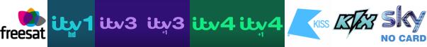 ITV HD, ITV3, ITV3 +1, ITV4, ITV4 +1, Kiss TV, Kix
