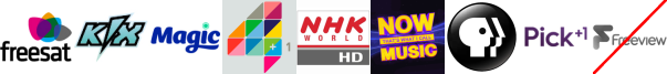 Kix, Magic, More4+1, NHK World TV HD, NOW Music (XMAS), PBS America, Pick +1