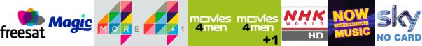 Magic, More4, More4+1, Movies4Men, Movies4Men +1, NHK World TV HD, NOW Music