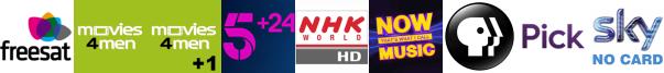Movies4Men, Movies4Men +1, My5, NHK WORLD HD, NOW 80s, PBS America, pick