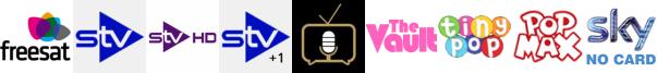 STV, STV HD, STV+1, Talking Pictures TV, The Vault, Tiny Pop, Tiny Pop 1