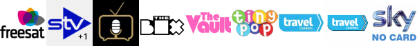 STV+1, Talking Pictures TV, The Box, The Vault, Tiny Pop, Travel Channel, Travel Channel +1