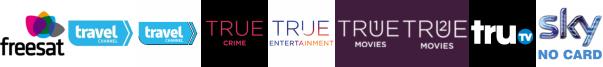 Travel Channel, Travel Channel +1, True Crime, True Entertainment, True Movies, True Movies  1, truTV