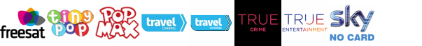 Tiny Pop, Tiny Pop 1, Travel Channel, Travel Channel +1, True Crime, True Entertainment, True Entertainment +1