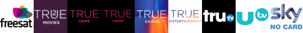 True Christmas  1, True Crime, True Crime +1, True Drama, True Entertainment, truTV, UTV