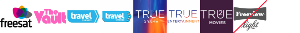 The Vault, Travel Channel, Travel Channel +1, True Ent  1, True Entertainment, True Entertainment +1, True Movies  1
