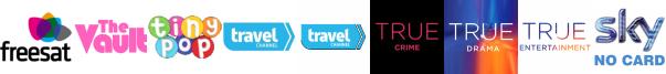 The Vault, Tiny Pop, Travel Channel, Travel Channel +1, True Crime, True Ent  1, True Entertainment  1