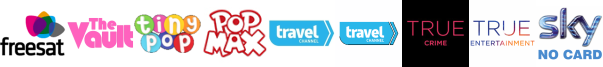 The Vault, Tiny Pop, Tiny Pop 1, Travel Channel, Travel Channel +1, True Crime, True Entertainment