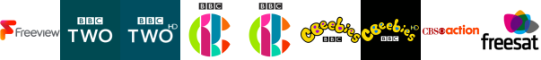 BBC Two, BBC Two HD, CBBC, CBBC HD, CBeebies, CBeebies HD, CBS Action