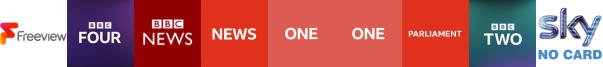 BBC Four HD, BBC News, BBC News HD, BBC One, BBC One HD, BBC Parliament, BBC Two
