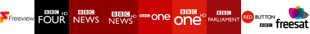 BBC Four HD, BBC News, BBC News HD, BBC One, BBC One HD, BBC Parliament, BBC Red Button 1