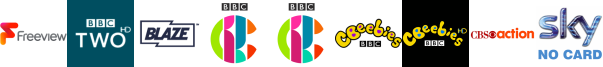 BBC Two HD, Blaze, CBBC, CBBC HD, CBeebies, CBeebies HD, CBS Action