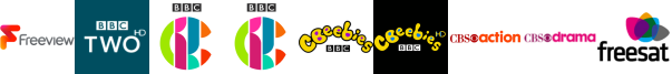 BBC Two HD, CBBC, CBBC HD, CBeebies, CBeebies HD, CBS Action, CBS Drama