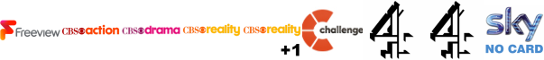 CBS Action, CBS Drama, CBS Reality, CBS Reality +1, Challenge, Channel 4 , Channel 4 (Wales)