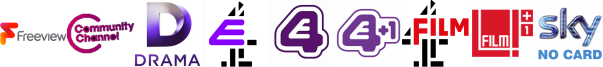 Community Channel, Drama, E4 , E4 (Wales) , E4 +1, Film4, Film4 +1