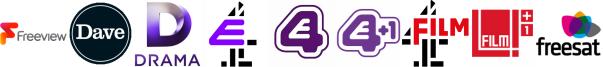 Dave, Drama, E4, E4 (Wales), E4 +1, Film4, Film4 +1