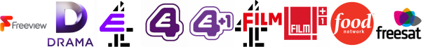Drama, E4, E4 (Wales), E4 +1, Film4, Film4 +1, Food Network
