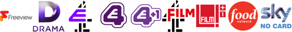 Drama, E4 , E4 (Wales) , E4 +1, Film4, Film4 +1, Food Network