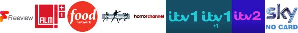 Film4 +1, Food Network, Front Runner TV, Horror Channel, ITV, ITV +1, ITV 2