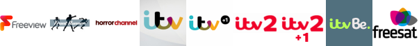 Frontrunner, Horror Channel, ITV , ITV +1 , ITV 2, ITV 2 +1, ITV Be