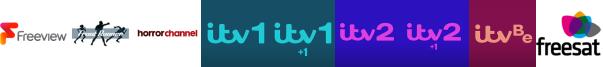 Frontrunner, Horror Channel, ITV, ITV +1, ITV 2, ITV 2 +1, ITV Be