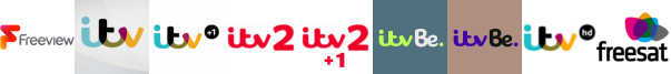 ITV, ITV +1, ITV 2, ITV 2 +1, ITV Be, ITV Be +1, ITV HD