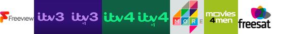 ITV3, ITV3 +1, ITV4, ITV4 +1, Keep It Country, More4, Movies4Men